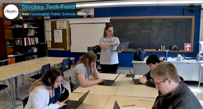 Stuckey students created a GoFundMe video in cooperation with Farmington Public Schools students to raise money to purchase Chromebooks.
