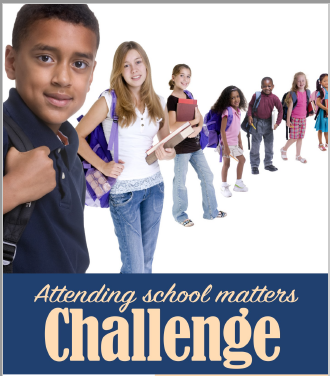 Attending School Matter Challenge Card.  Please complete the attached card and return it to your teacher.
